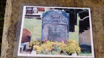 Anne Brontë's grave with intact headstone